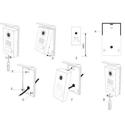 Platine de rue supplémentaire pour LEVO Access - NOVA - ICE - STEP Access Schéma Montage - 720302 - Extel