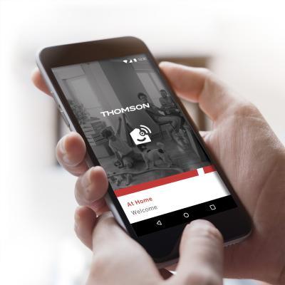 Page d'accueil de l'application AtHome