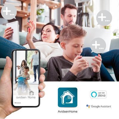 Caméra extérieure compatible Alexa et Google Assistant