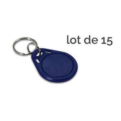 Badge d'accès bleu - Lot de 15