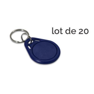 Badge d'accès bleu - Lot de 20