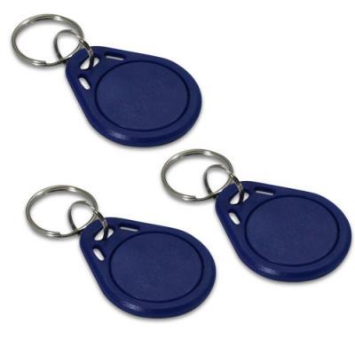 Badge d'accès bleu - Lot de 3