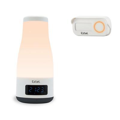 Sonnette sans fil MOOD avec enceinte bluetooth et lampe intégrée orange - 083701 - Extel