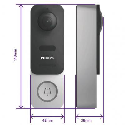 Dimension de la sonnette connectée Philips Link