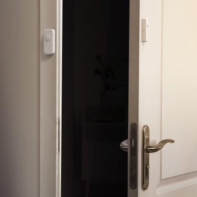 Une porte avec un détecteur d'installé
