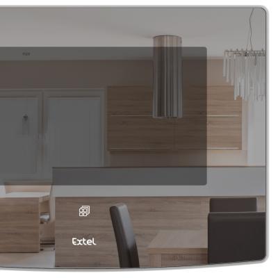 Gros plan de l'écran de l'Extel Glass