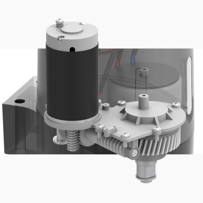 Schéma intérieur moteur avec engrenage métal