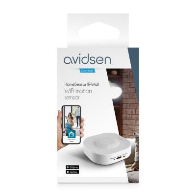Vue de face - Carton du détecteur de mouvement wifi Avidsen