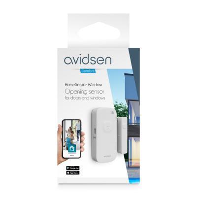 Vue de face du packaging du détecteur d'ouverture Avidsen