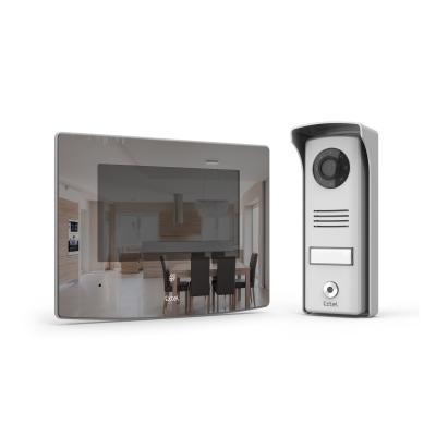 Kit visiophone Extel glass : écran éteint + platine de rue