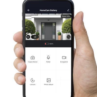 Vue de la caméra sur l'application AvidsenHome