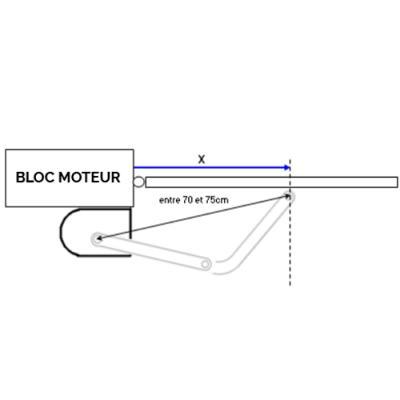 Bloc moteur droit seul ATB2 Installation - 850406 - Extel