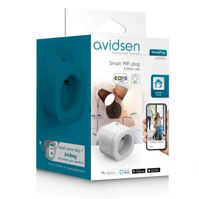 Carton packaging de la prise connectée Avidsen Home