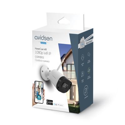Carton de la caméra extérieure wifi Avidsen Home vue de côté