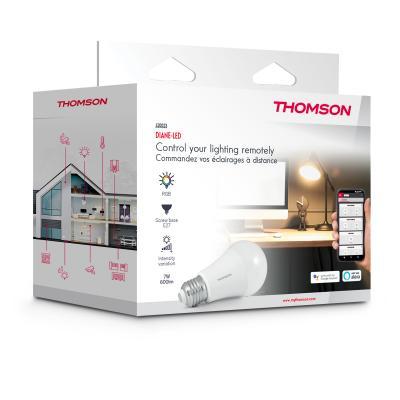 Carton de l'ampoule connectée E27 Thomson
