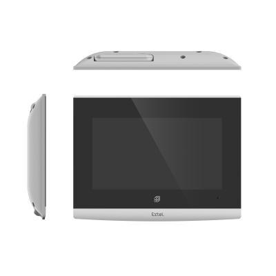 Vue de dessus de l'écran de l'interphone vidéo Extel Wave