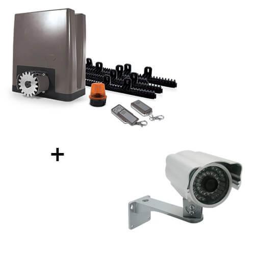 Motorisation pour portail coulissant - OREA 500 plus (24V) + Caméra