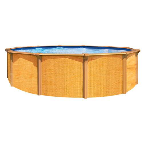 Kit piscine métal hors sol ronde 4.90m - ABAK OSMOSE