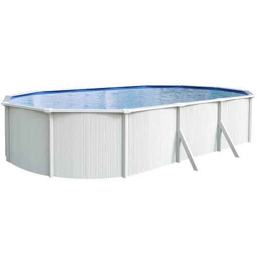 Kit piscine métal ovale hors sol SAPHIR