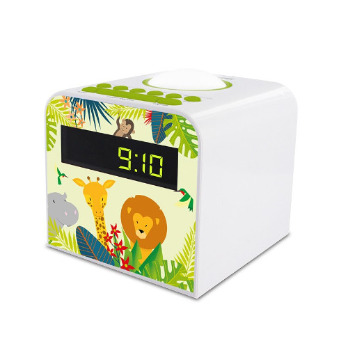 Radio réveil veilleuse enfant - Jungle - Vert et blanc - 477044