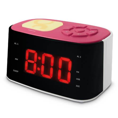 Radio réveil veilleuse Gulli - Rose - 477028