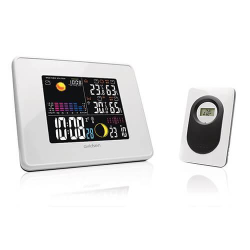 Station météo sans fil - Intérieur extérieur - Avec pression atmosphérique - Avidsen