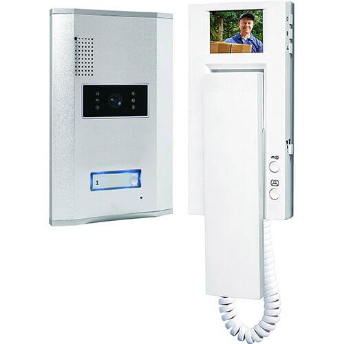 "Interphone 2,3 "" Platine métal 1 famille"