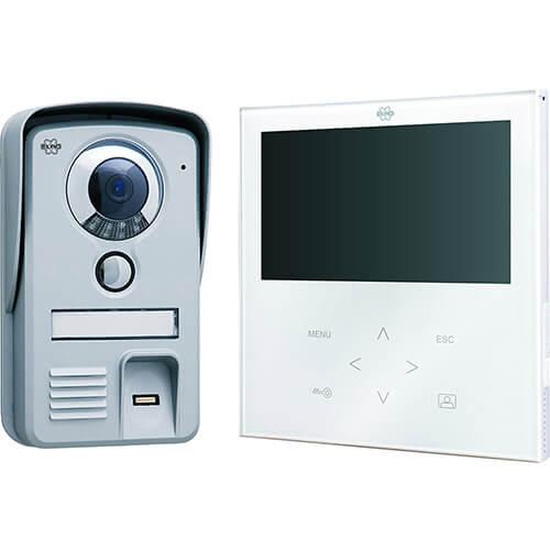 """Portier vidéo couleur 7"""" avec lecteur d'empreintes digitales"""