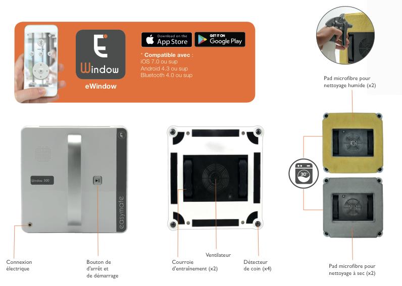 robot lave vitre window 300 extel maisonic. Black Bedroom Furniture Sets. Home Design Ideas