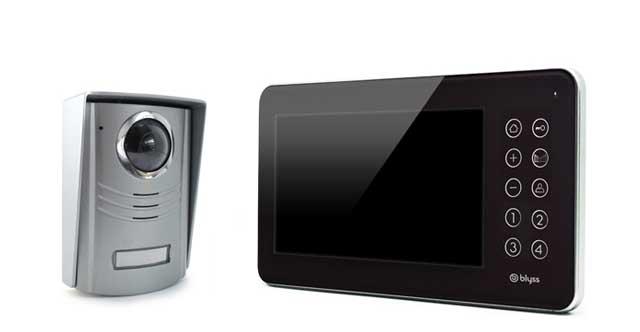 platine de rue pour visiophone 2 fils couleur blyss. Black Bedroom Furniture Sets. Home Design Ideas