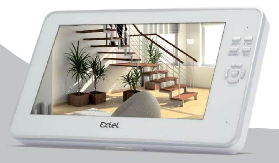 Ecran du kit de vidéosurveillance Extel O PLUS