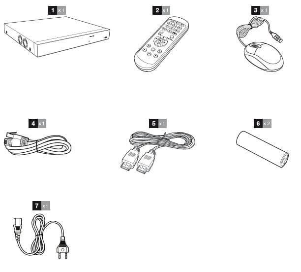 Composition du kit enregistreur Vidéo 16 caméra