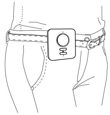 Fixation de la sonnette a la ceinture