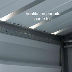 Ventilation du toit de l'abri de jardin