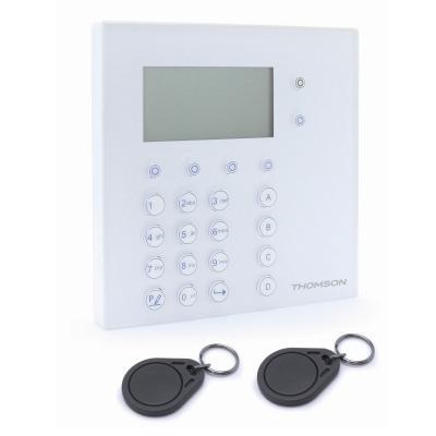Clavier à codes et lecteur de badge pour système d'alarme Thombox Thomson