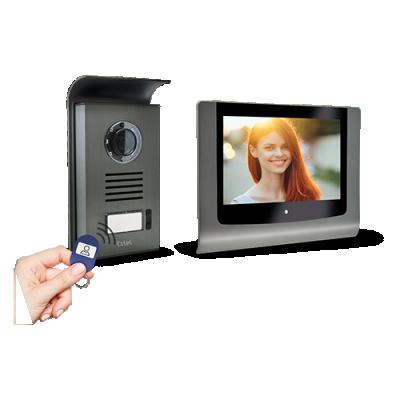 Visiophone couleur avec contrôle d'accès RFID LEVO Access Extel