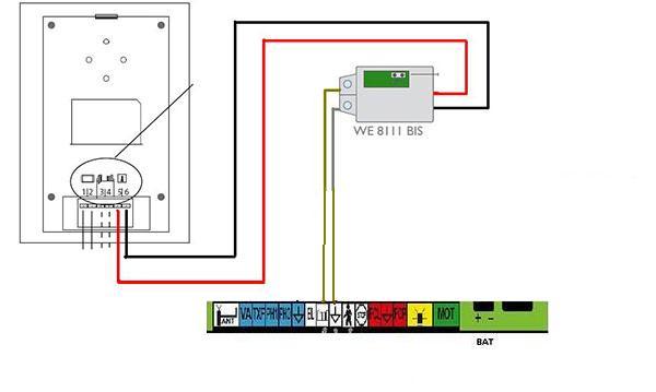 branchement relais 681111 motorisation de portail