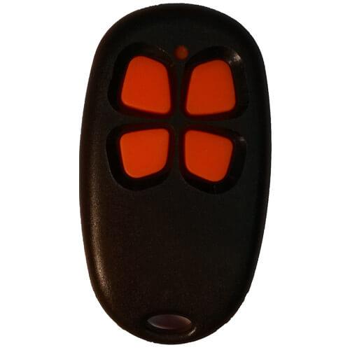 Télécommande noire avec boutons oranges
