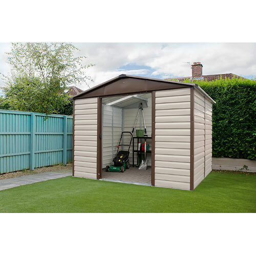 Abri de jardin métal TBSL - 7 m² : Longueur 3 m, largeur 2,4 m, hauteur 2 m