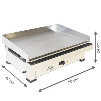 Plancha électrique - AutoGas - 600 x 400 x 240 mm