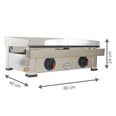 Plancha à gaz - AutoGas - 600 x 400 x 240 mm
